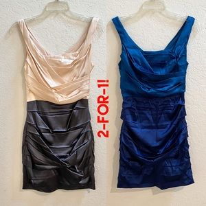 2-for-1! Express Satin Ruched Mini Dresses!